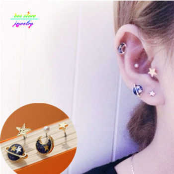 Japanese Style Universe Fake Earring Jewelry Set