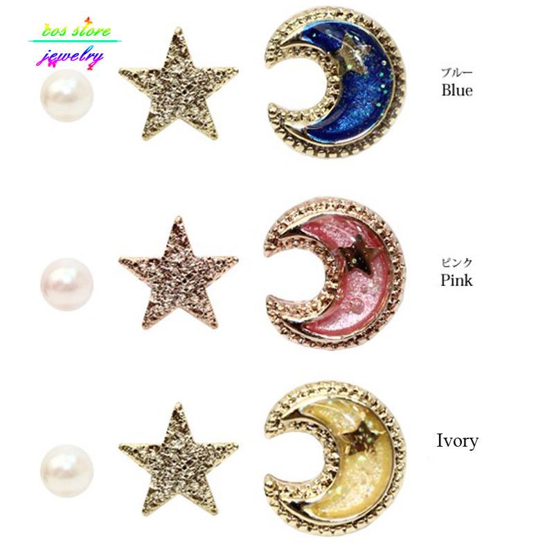 11560-cd7a21caa6e9494604767a321b0f8323 Japanese Style Universe Fake Earring Jewelry Set