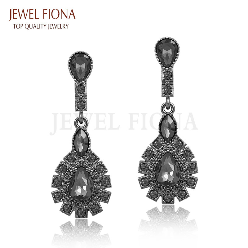 11561-1eef9795ba9e142f7f4825dd9ed37146 Elegant Peacock Tail Dangle Earring Jewelry With Crystals