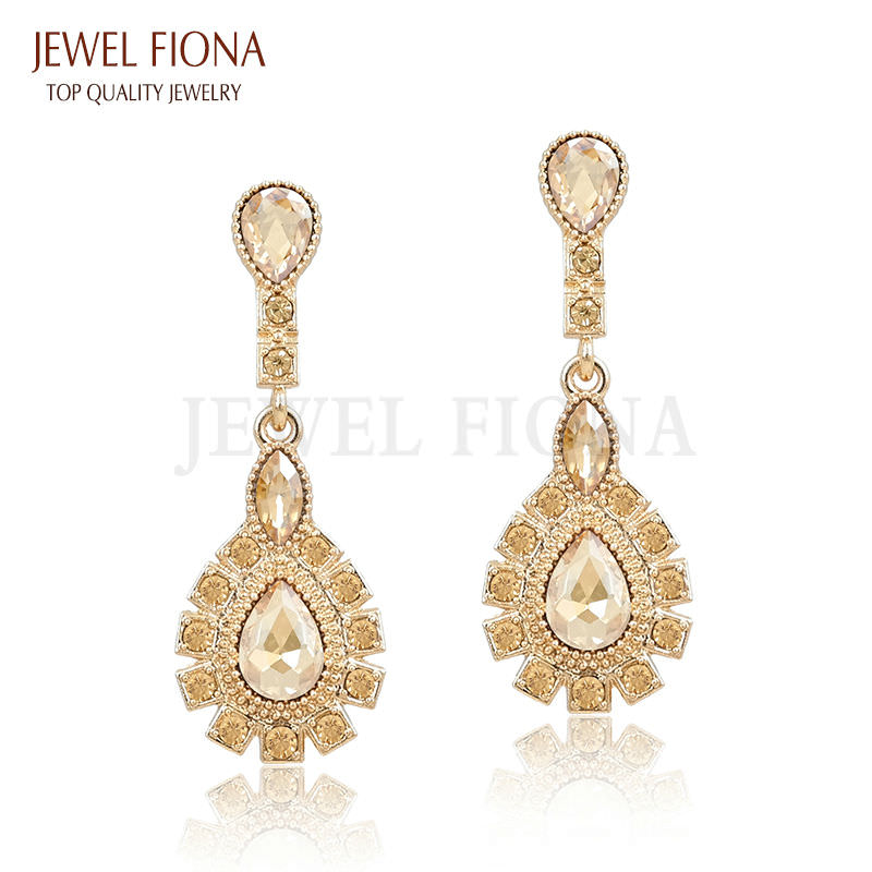 11561-5b8d65705d24323b61136046d0287851 Elegant Peacock Tail Dangle Earring Jewelry With Crystals