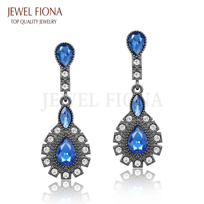 11561-7deefb110be80e0fddb98904b4d0a832 Elegant Peacock Tail Dangle Earring Jewelry With Crystals
