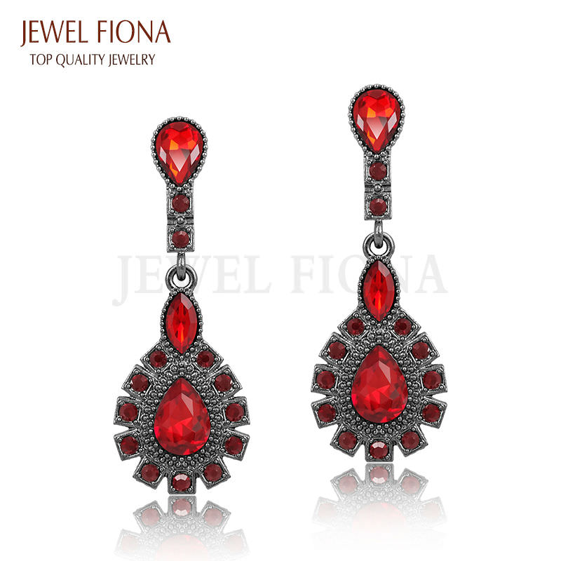11561-a53dd5d0f66593d04973964f7feda889 Elegant Peacock Tail Dangle Earring Jewelry With Crystals