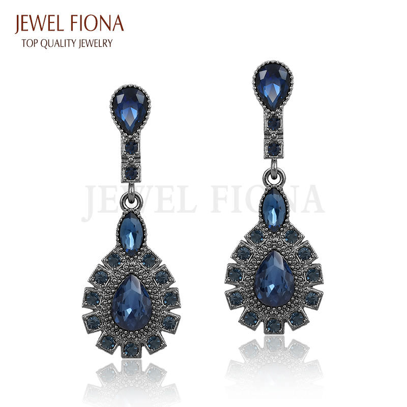11561-c2963120001fef1cafa3a896b31ffe4c Elegant Peacock Tail Dangle Earring Jewelry With Crystals
