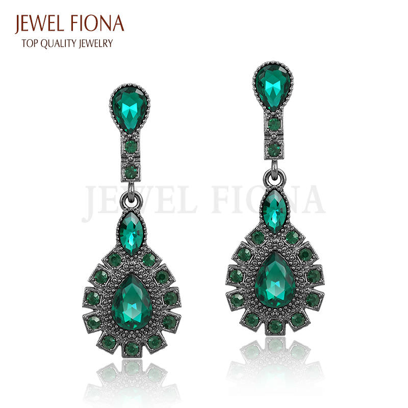 11561-dacda3398dd048ddae17eeec65579c93 Elegant Peacock Tail Dangle Earring Jewelry With Crystals