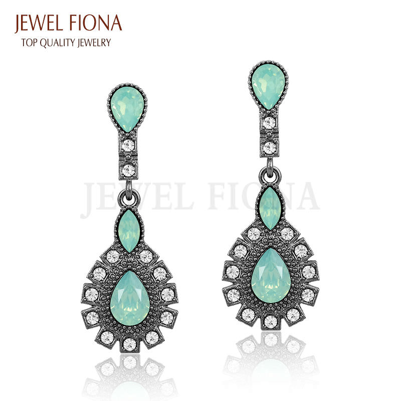 11561-f2f242de8eda4070ffcf597ea0a1e4f2 Elegant Peacock Tail Dangle Earring Jewelry With Crystals