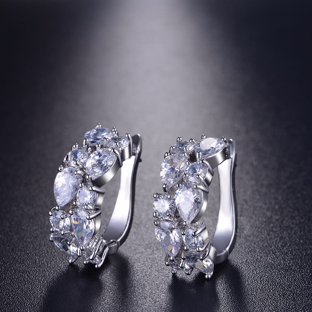 11563-4d2f6752fd260f766f5accef0a171550 LOWAY Multicolor Cubic Zircon Ring Hinged Earring Jewelry For Women