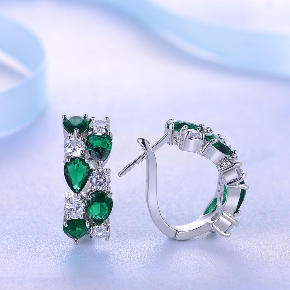 11563-74ad2f38eb7022c8312b01b134b02f72 LOWAY Multicolor Cubic Zircon Ring Hinged Earring Jewelry For Women