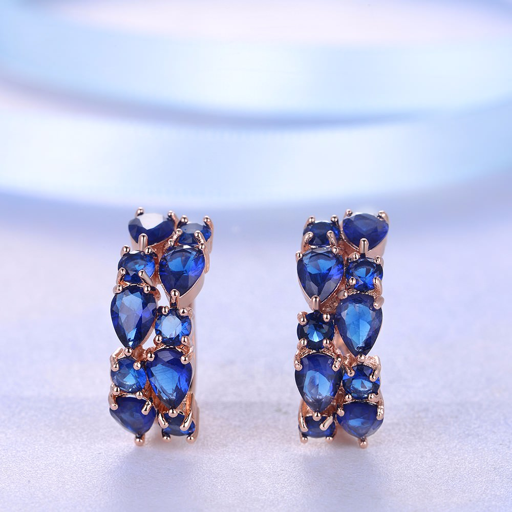 11563-9cb1e5625896dd27e34832d5aa1b9175 LOWAY Multicolor Cubic Zircon Ring Hinged Earring Jewelry For Women