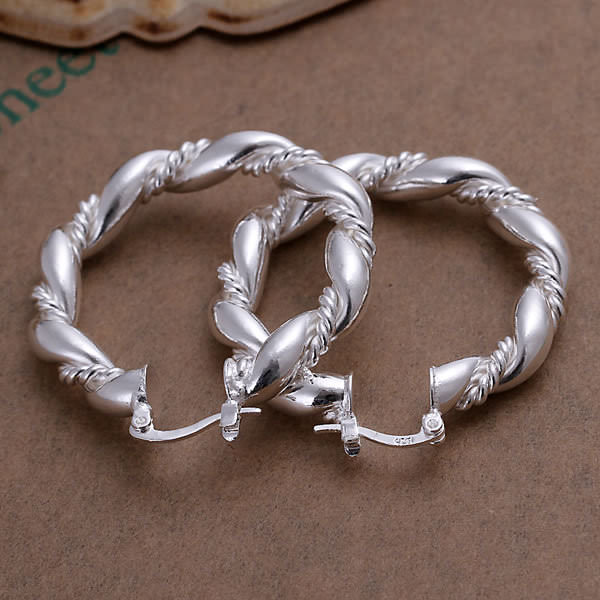 11564-3d250ad15d716769dffb2c4e73aceb0b Trendy Twisted Rope Hoop Latch Back Earring Jewelry For Women