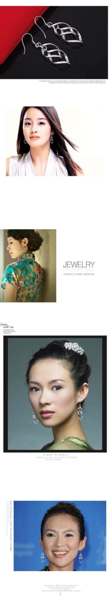 11566-87a638171922c4ae7aba7164b51c8149 Trendy Rhombus Interlaced French Wire Earring Jewelry
