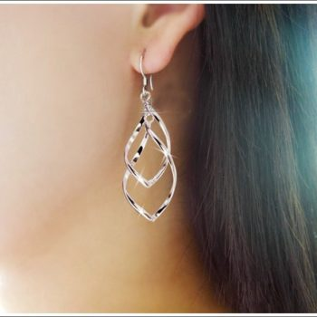 Trendy Rhombus Interlaced French Wire Earring Jewelry