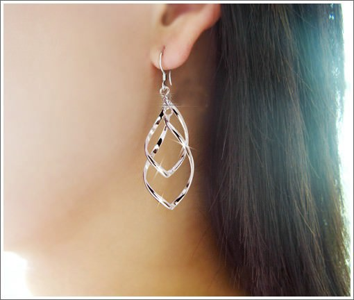 11566-a09498824b135ff6ed0f5c2fe77919a3 Trendy Rhombus Interlaced French Wire Earring Jewelry