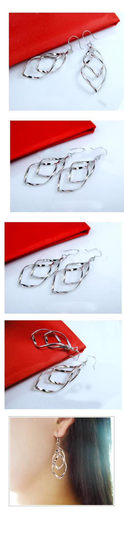 11566-b17b25c757e80cf163b2c4a4f1a63600 Trendy Rhombus Interlaced French Wire Earring Jewelry