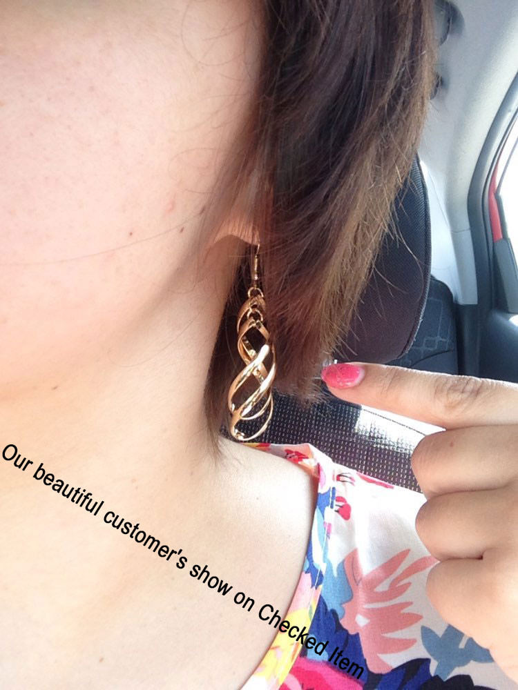 11566-fe2cf21b4f2e746d39b4c493a9c8709d Trendy Rhombus Interlaced French Wire Earring Jewelry