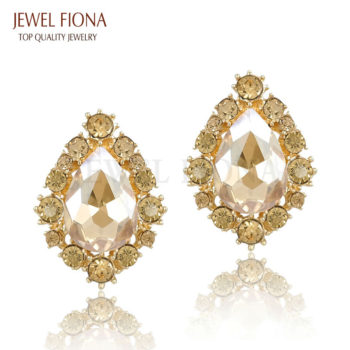 Classic Crystal Push Back Party Earring Jewelry For Women