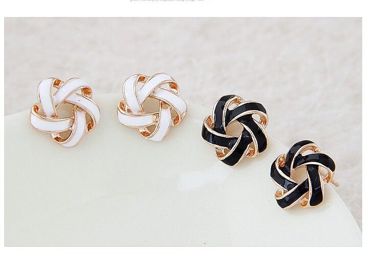 11568-018c2f518563ee13c8133978be17752c Interlaced Star Shaped Push Back Earring Jewelry For Women