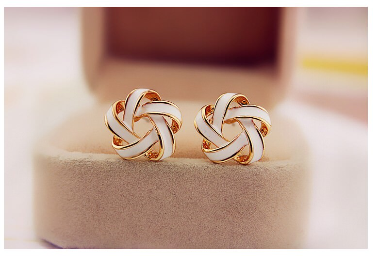 11568-d10f9f2fd0cf94d6e89782080435d794 Interlaced Star Shaped Push Back Earring Jewelry For Women
