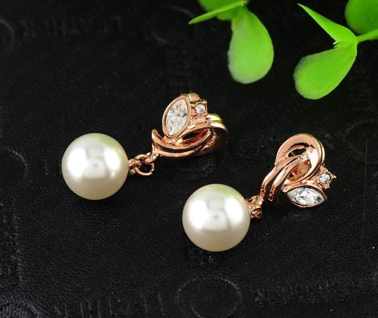 11570-ce9d7efdbed0807720e2b45575db8bef Pearl Drop Austrian Crystal Flower Earring Jewelry