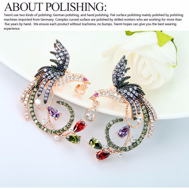 11571-0343289a6b43e2f0900dd2929b8b9483 Teemi Gemmed Mystical Bird Push Back Earring Jewelry