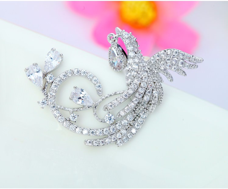 11571-1596cacb4a8c9ec95a306d4d93982b5f Gemmed Mystical Bird Push Back Earring Jewelry