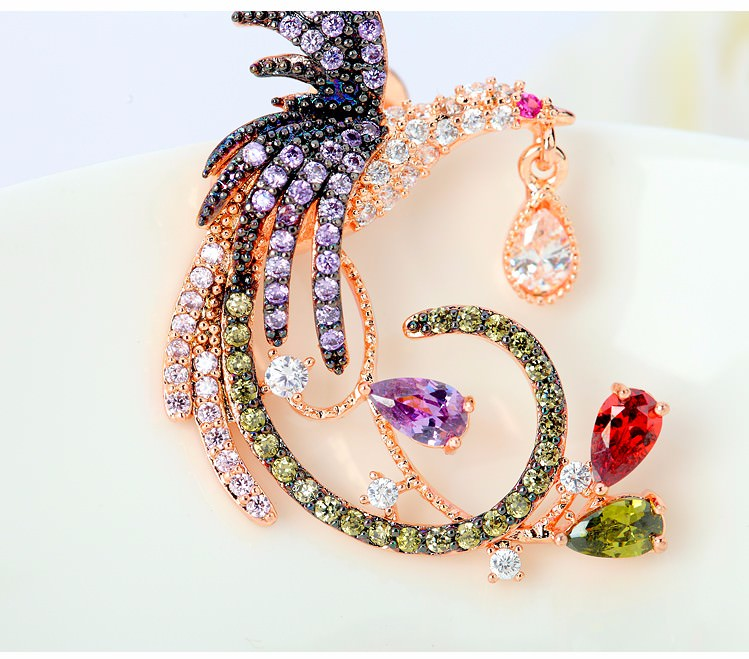 11571-70110ac7fd8d08f84ef2ffaec3627a62 Gemmed Mystical Bird Push Back Earring Jewelry