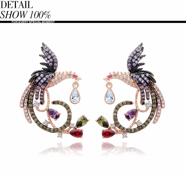 11571-e04781e4912b2f82eb92935d16c4bd96 Teemi Gemmed Mystical Bird Push Back Earring Jewelry