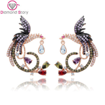 Teemi Gemmed Mystical Bird Push Back Earring Jewelry