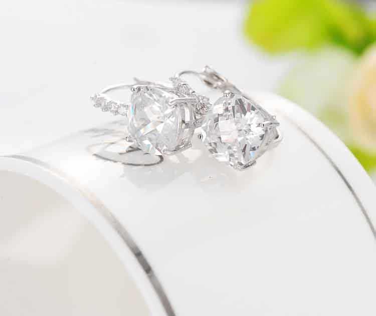 11572-2399bee336dfc17c6ad329c94e9e0b8e ANFASNI Lever Back AAA Zircon Geometric Earring Jewelry For Women