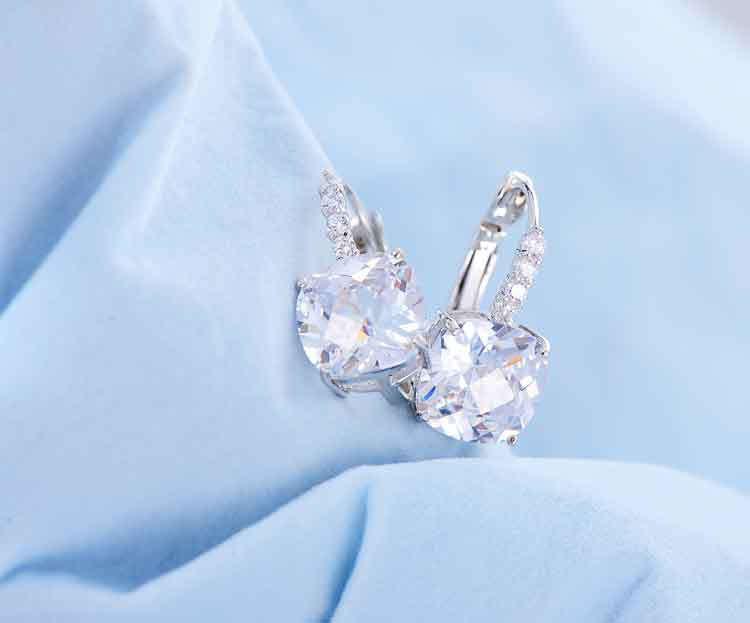 11572-255fcdf7e38e6c6bb9181f320ab5b834 ANFASNI Lever Back AAA Zircon Geometric Earring Jewelry For Women
