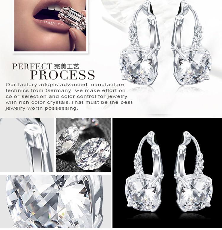11572-36a9552e522b24da94fb00bd380fc675 ANFASNI Lever Back AAA Zircon Geometric Earring Jewelry For Women
