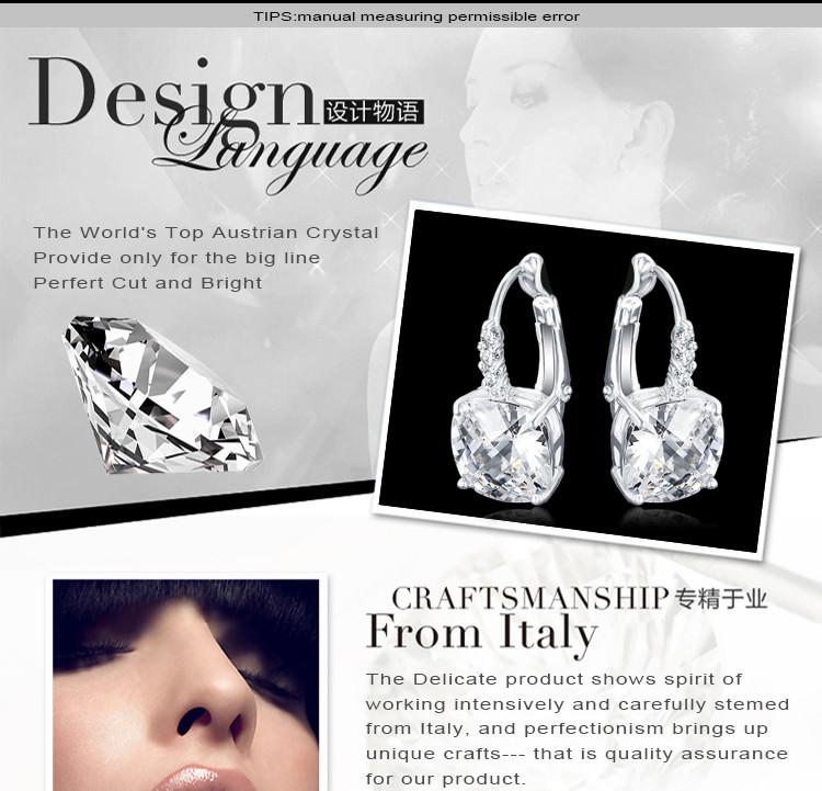 11572-4996df949d7b967add64177d039ccfc8 ANFASNI Lever Back AAA Zircon Geometric Earring Jewelry For Women