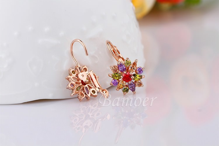 11575-4d62bad7f1007eb60bc4df7f4c135155 BAMOER Luxury Gemmed Floral Lever Back Earring Jewelry