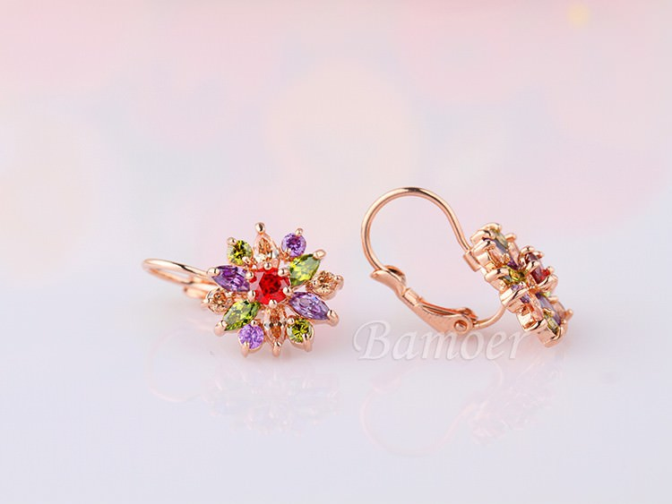 11575-5ec60e490889bfb8f55d2713cd4cc176 BAMOER Luxury Gemmed Floral Lever Back Earring Jewelry