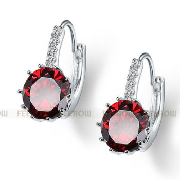 FEEHOW Cubic Zirconia Lever Back Wedding Earring Jewelry