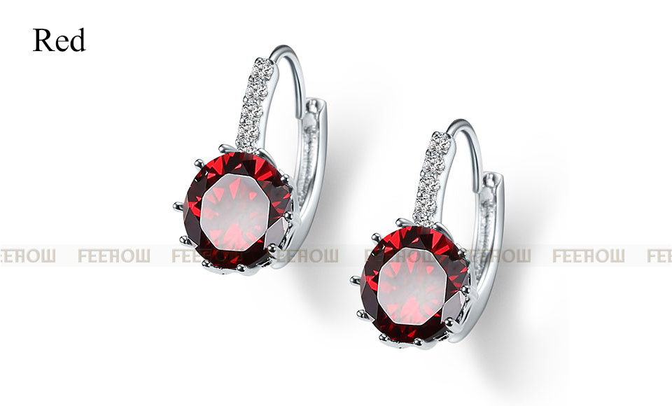 11576-1d5a7ba7adcb076c367c36cd31ddbfb5 FEEHOW Cubic Zirconia Lever Back Wedding Earring Jewelry