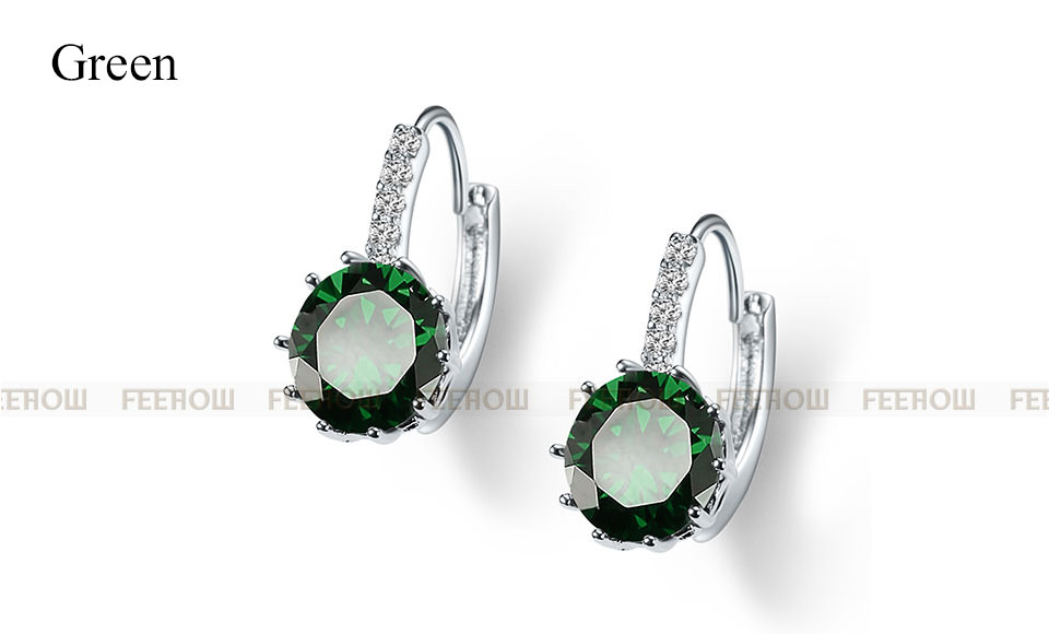 11576-21e5e93140d556bb3f095df94f433e27 FEEHOW Cubic Zirconia Lever Back Wedding Earring Jewelry