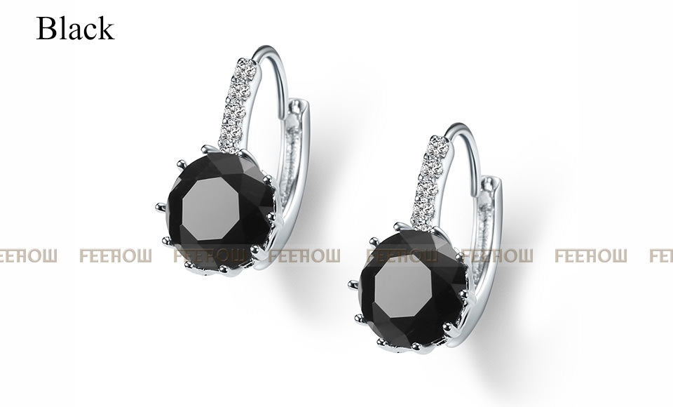 11576-4ee9a52be5db902543797b977489c7fa FEEHOW Cubic Zirconia Lever Back Wedding Earring Jewelry
