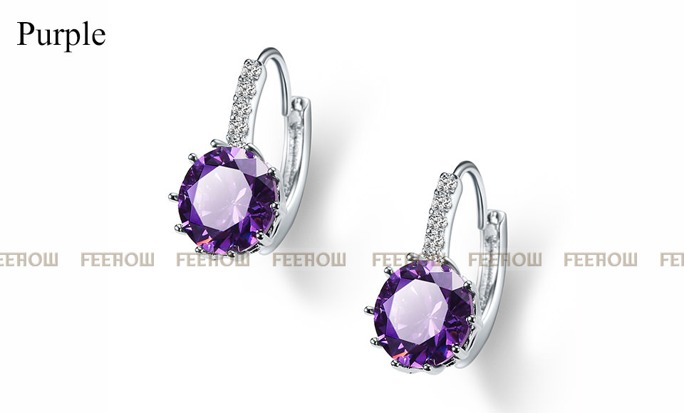 11576-57412a4c2be5cd30846b89daf5a865c3 FEEHOW Cubic Zirconia Lever Back Wedding Earring Jewelry