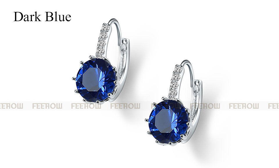 11576-60110b5bf7ba4a199b4662b78d54c238 FEEHOW Cubic Zirconia Lever Back Wedding Earring Jewelry