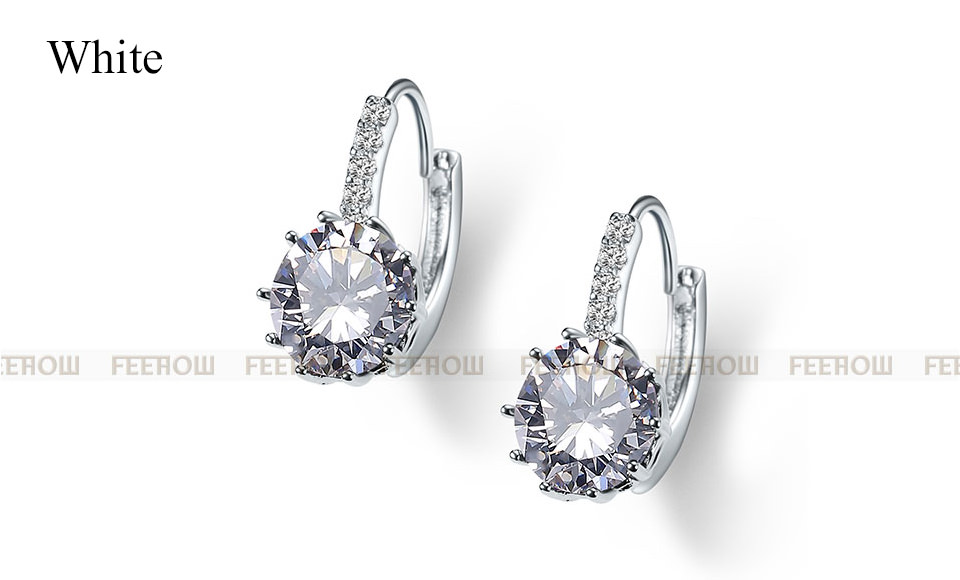 11576-c19b59504f14544c756e0b7e638a6c91 FEEHOW Cubic Zirconia Lever Back Wedding Earring Jewelry