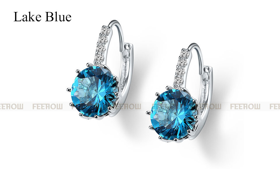 11576-e029f6f54e819202b008b1f492c14b02 FEEHOW Cubic Zirconia Lever Back Wedding Earring Jewelry