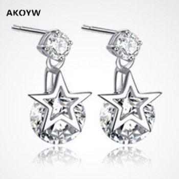 2016 Ms Crystal Pentagram Cubic Zirconia Fashion Jewelry Earrings