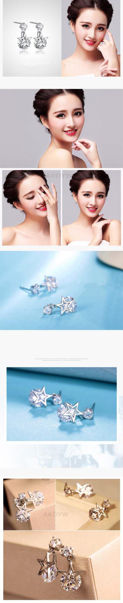 11578-ddf7745d3821e37d7b3210412f9ee69f 2016 Ms Crystal Pentagram Cubic Zirconia Fashion Jewelry Earrings