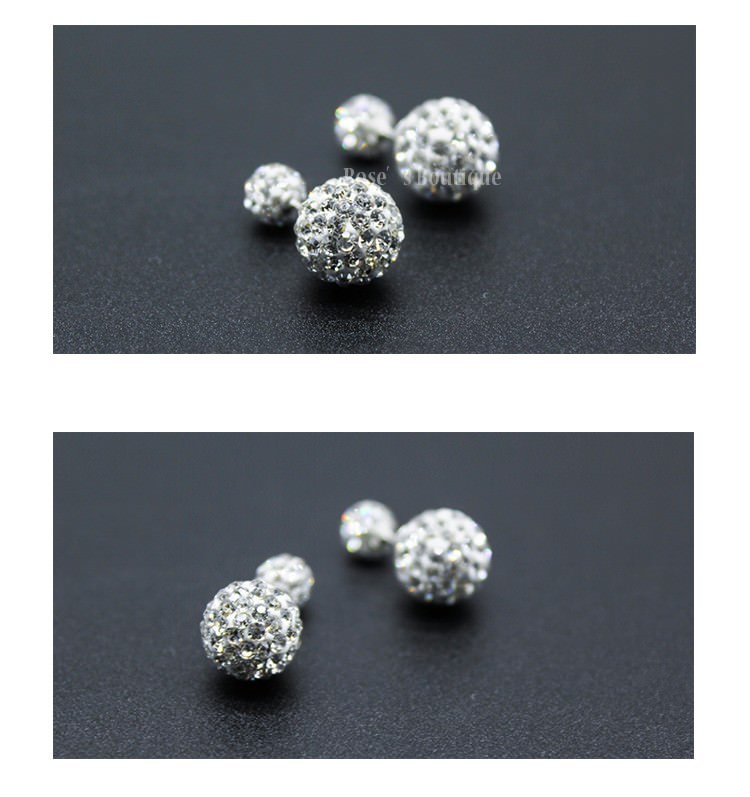 11579-9ddb0eb8b38804d21279399c458a3316 Sterling Silver Rhinestone Double Ball Earring Jewelry