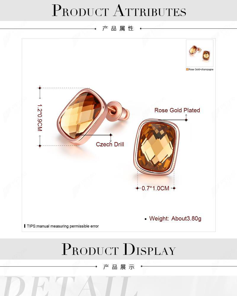 11580-a83ce48f8b4d12d1fc0ac85fbe7e544f Cubic Zirconia Square Diamond Rose Gold Plated Earring Jewelry