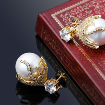 DC 1989 Pearl Drop Earring Jewelry In Gold Or Silver