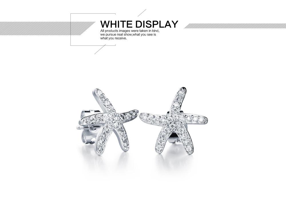 11584-25218f415b465ac4cc1ab3793df9f889 OPK Fashion Cubic Zirconia Starfish Push Back Earring Jewelry
