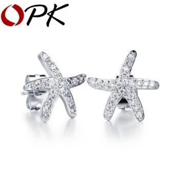 OPK Fashion Cubic Zirconia Starfish Push Back Earring Jewelry