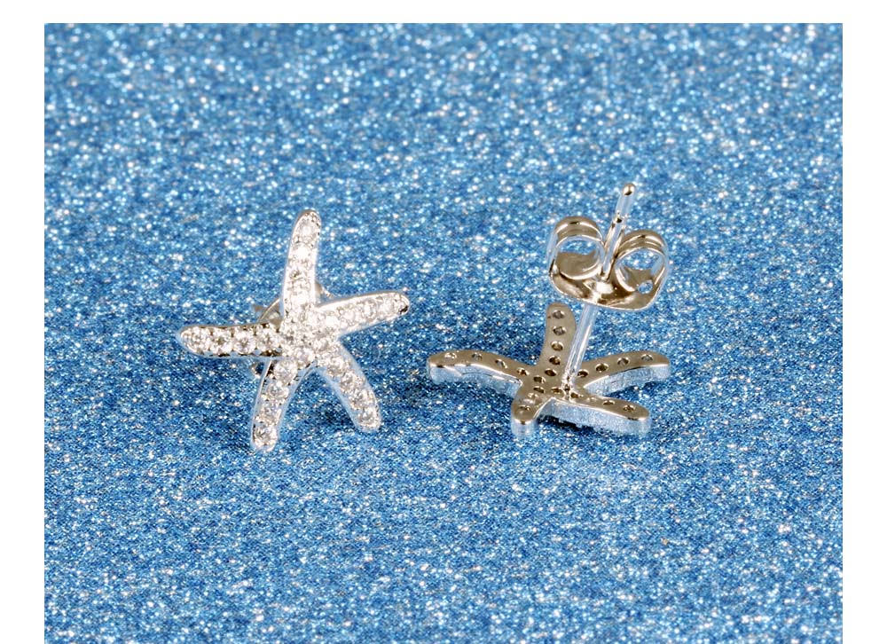 11584-b1ff94b5ab9fc9bbaaccc94489af622b Fashion Cubic Zirconia Starfish Push Back Earring Jewelry