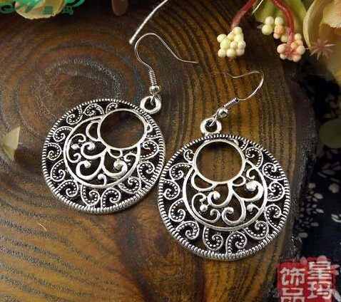 11585-90d1c14574efcbc686e211d434daa635 Vintage Tibetan Silver French Hook Earring Jewelry For Women